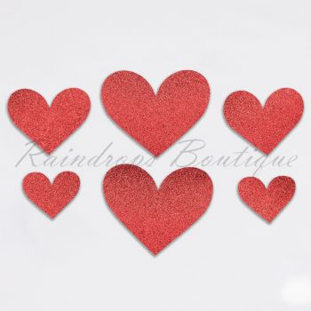 Red Glitter Hearts